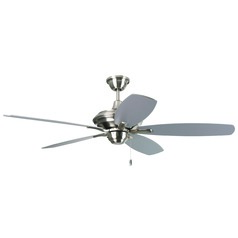 Craftmade Lighting Copeland Stainless Steel Ceiling Fan with Light