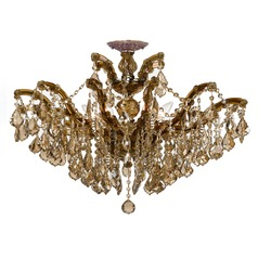 Crystorama Lighting Maria Theresa Antique Brass Semi-Flushmount Light