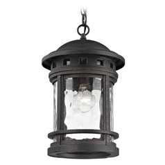 Elk Lighting Costa Mesa Weathered Charcoal Outdoor Hanging Light