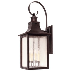 Pale Cream Seeded Glass Outdoor Wall Light Bronze Savoy House