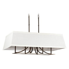 Capital Lighting Parker Burnished Bronze Island Light with Rectangle Shade