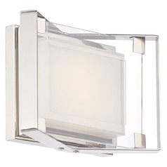 George Kovacs Crystal Clear Chrome LED Bathroom Light
