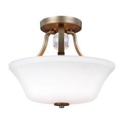 Feiss Lighting Evington Sunset Gold Semi-Flushmount Light