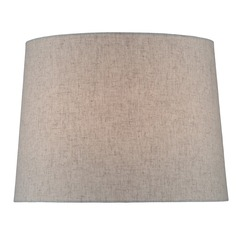 Natural Linen Drum Lamp Shade with Spider Assembly