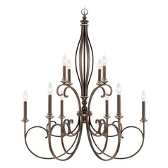 Capital Lighting Kingsley Dark Spice Chandelier