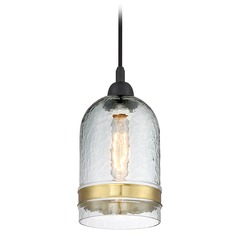Quoizel Lighting Piccolo Pendant Mystic Black Mini-Pendant Light with Cylindrical Shade