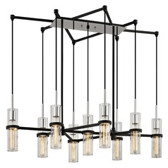 Troy Lighting Xavier Vintage Iron Multi-Light Pendant with Cylindrical Shade