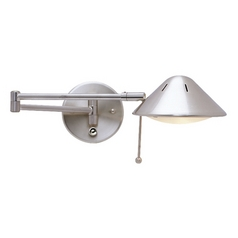 LED Swing-Arm Plug-In Wall Lamp