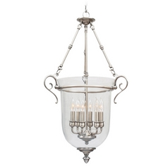 Livex Lighting Legacy Brushed Nickel Pendant Light with Bowl / Dome Shade