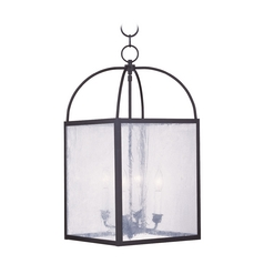 Livex Lighting Milford Black Pendant Light with Square Shade
