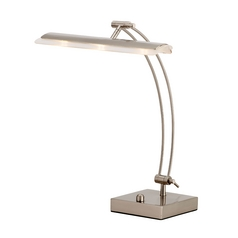 Adesso Home Lighting Esquire Satin Steel LED Desk Lamp