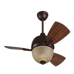 Craftmade Lighting Dane Oiled Bronze Gilded Ceiling Fan with Light