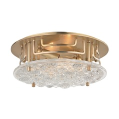 Hudson Valley Lighting Holland Aged Brass Semi-Flushmount Light