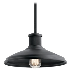 Farmhouse Outdoor Hanging Light Black Allenbury by Kichler Lighting