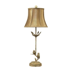 Table Lamp with Gold Shade in Mount Pleasant Finish
