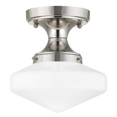 8-Inch Wide Retro Style Schoolhouse Ceiling Light
