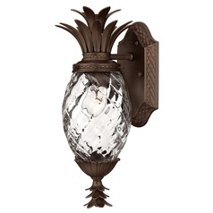 15-Inch Copper Bronze Pineapple Outdoor Wall Light