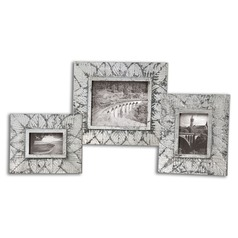 Uttermost Foliage Silver Photo Frames, Set of 3