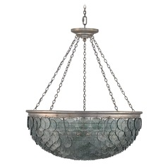 Currey and Company Quorum Silver Leaf Pendant Light