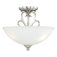 Hartford Satin Nickel Semi-Flushmount Light by Vaxcel Lighting