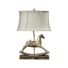 Table Lamp with Silver Shade in Clancey Court Finish