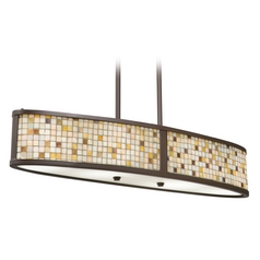Kichler Billiard Light with Multi-Color Glass in Olde Bronze Finish