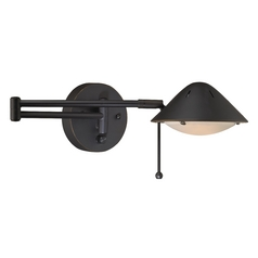 LED Bronze Plug-In Swing-Arm Wall Lamp