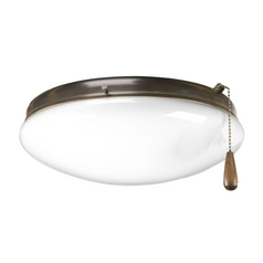 Progress Light Kit with White Glass in Antique Bronze Finish
