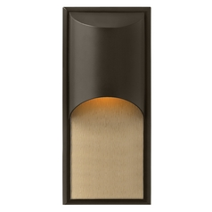 Modern Outdoor Wall Light in Bronze Finish