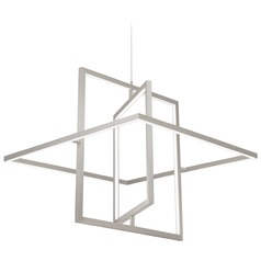 Kuzco Lighting Modern Brushed Nickel LED Pendant 3000K 1295LM