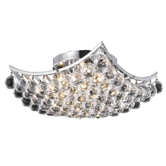 Destination Lighting Modern Crystal Semi-Flushmount Ceiling Light - 14-Inches Wide 2265