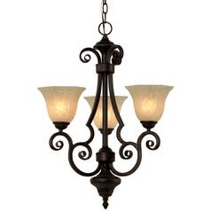 Dolan Designs 3-Light Chandelier in Olde World Iron