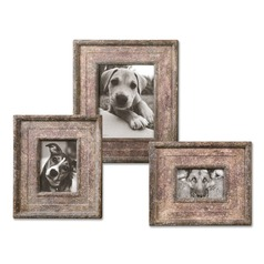 Uttermost Zana Red Distressed Photo Frames, Set of 3