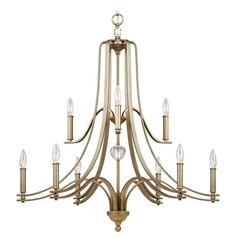 Feiss Lighting Evington Sunset Gold Chandelier