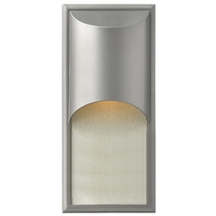 Modern Outdoor Wall Light in Titanium Finish