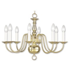 Livex Lighting Williamsburg Polished Brass Chandelier