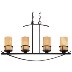 Quoizel Kyle Imperial Bronze Island Light with Cylindrical Shade