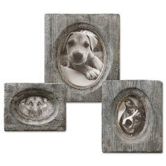 Uttermost Leonie Wooden Photo Frames, Set of 3
