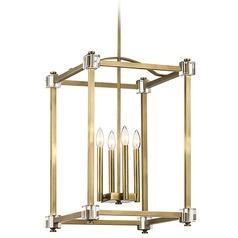 Kichler Lighting Cayden Natural Brass Pendant Light