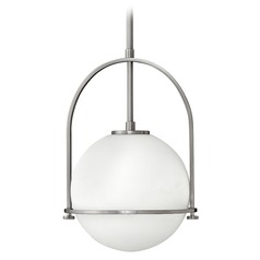 Hinkley Lighting Somerset Brushed Nickel Pendant Light with Globe Shade