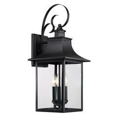 Quoizel Lighting Chancellor Mystic Black Outdoor Wall Light
