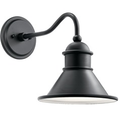 Farmhouse Barn Light Outdoor Wall Light Black by Kichler Lighting