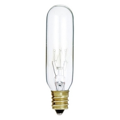 Clear 15-Watt T6 Candelabra Incandescent Light Bulb