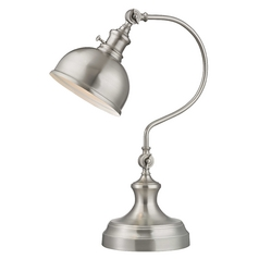 Merchant Adjustable Desk Lamp in Satin Nickel Finish