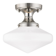10-Inch Wide Retro Schoolhouse Ceiling Light