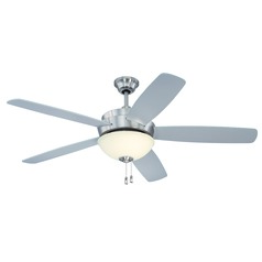 Craftmade Lighting Layton Stainless Steel Ceiling Fan with Light