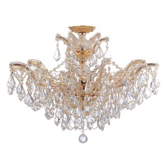 Crystorama Lighting Maria Theresa Gold Semi-Flushmount Light