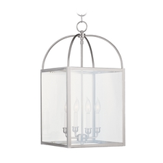 Livex Lighting Milford Brushed Nickel Pendant Light with Square Shade