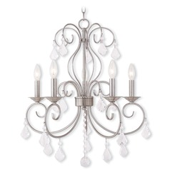 Livex Lighting Donatella Brushed Nickel Chandelier