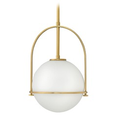 Hinkley Lighting Heritage Brass Pendant Light with Globe Shade